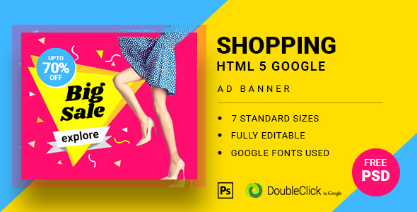 Shopping - HTML5 Animated Banner 21