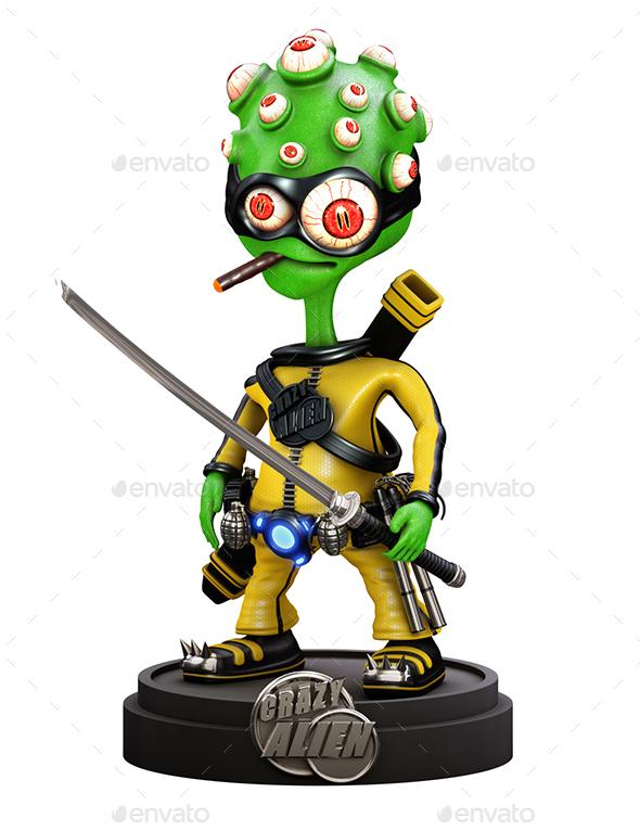 Cartoon Alien - Characters 3D Renders