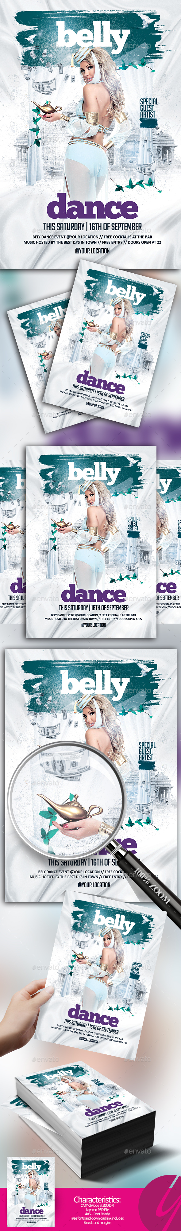 Belly Dance Party Flyer - Clubs & Parties Events