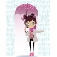 Autumn Girl with Umbrella - GraphicRiver Item for Sale
