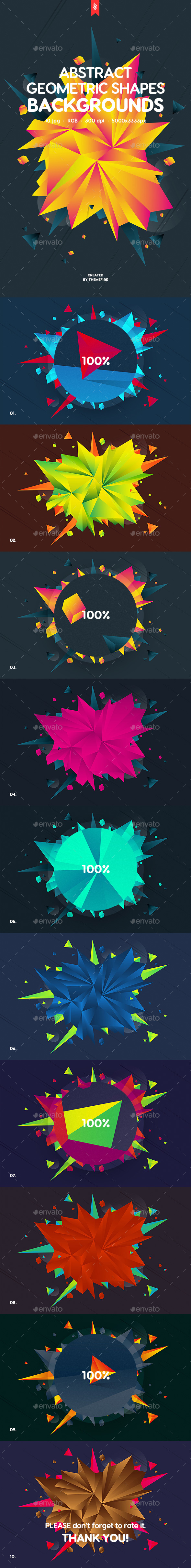Abstract Geometric Shapes Backgrounds
