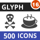 500 Vector Glyph Icons Bundle (Vol-16) - GraphicRiver Item for Sale