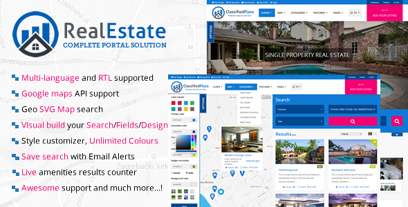 Real Estate Geo Portal - CodeCanyon Item for Sale