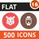 500 Vector Colorful Round Flat Icons Bundle (Vol-16) Nulled