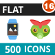 500 Vector Colorful Flat Icons Bundle (Vol-16) Nulled
