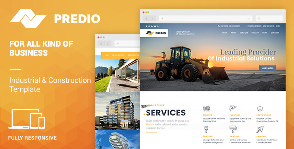 Predio | Industrial and Construction WordPress Theme