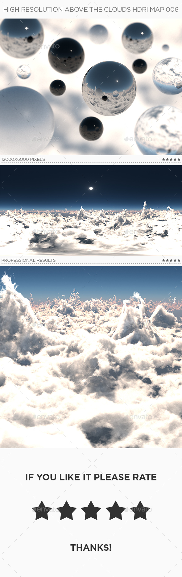 High Resolution Above The Clouds HDRi Map 006 - 3DOcean Item for Sale