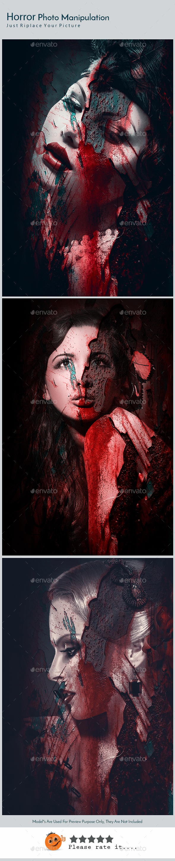 Horror Photo Effect Template v03 - Photo Templates Graphics