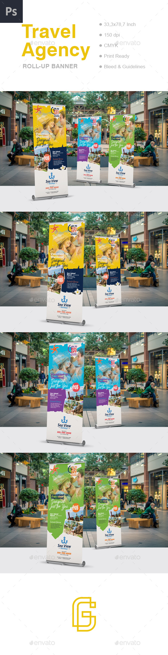Travel Roll-Up Banner - Signage Print Templates