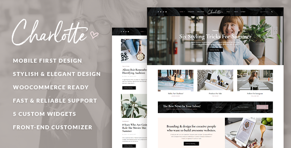Charlotte - Creative Blog WordPress Theme - Personal Blog / Magazine