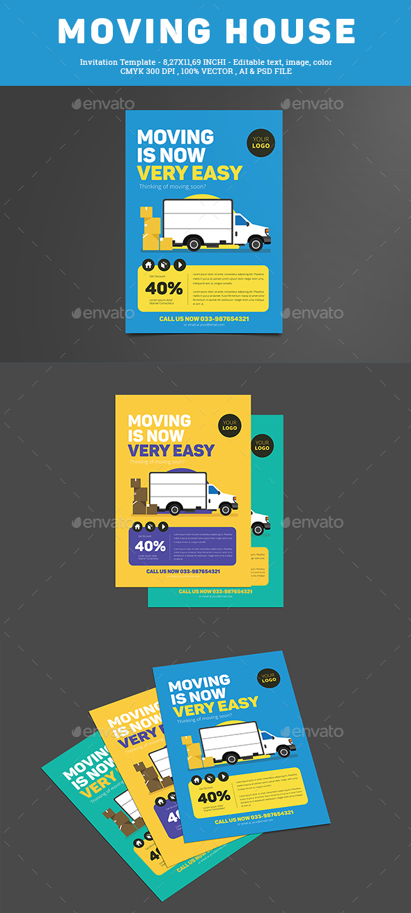 moving house flyer by guuver graphicriver. Black Bedroom Furniture Sets. Home Design Ideas