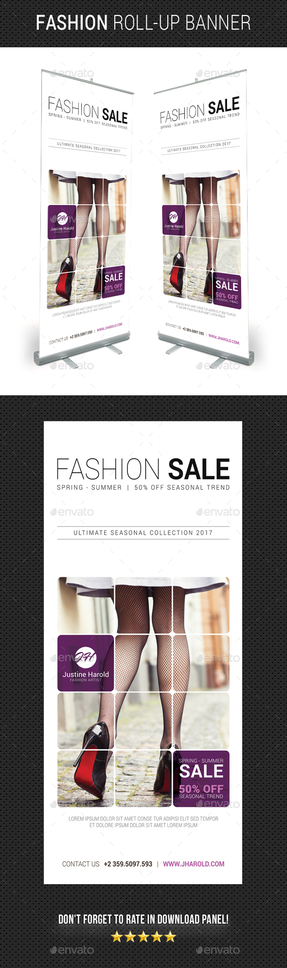 Fashion Roll-Up Banner 07 - Signage Print Templates