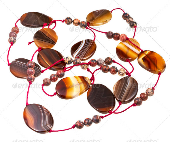 agate lady's bead - Stock Photo - Images