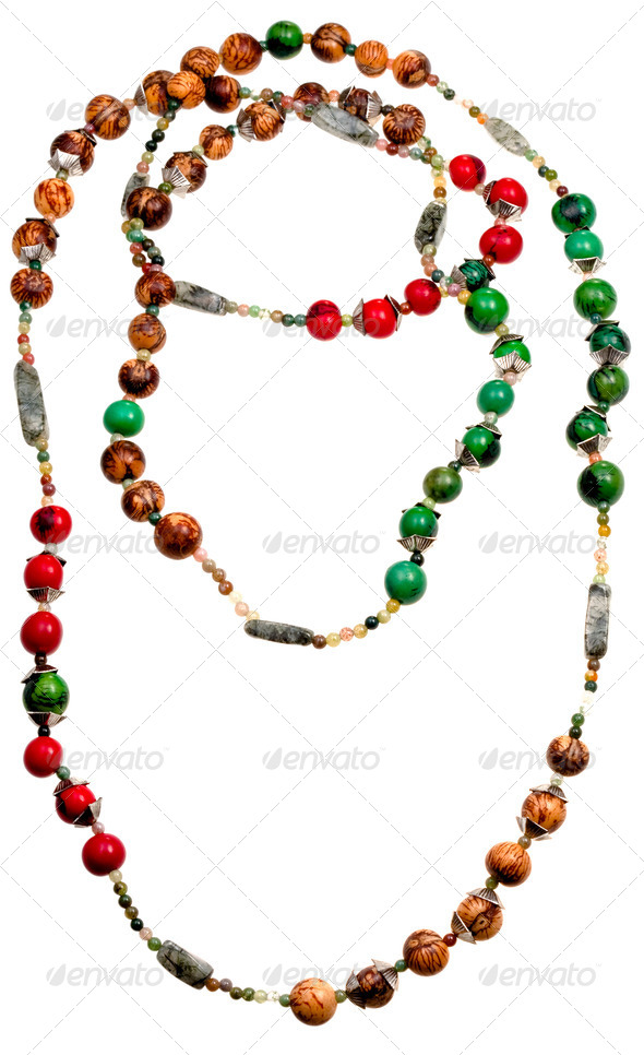natural material lady's bead closeup - Stock Photo - Images