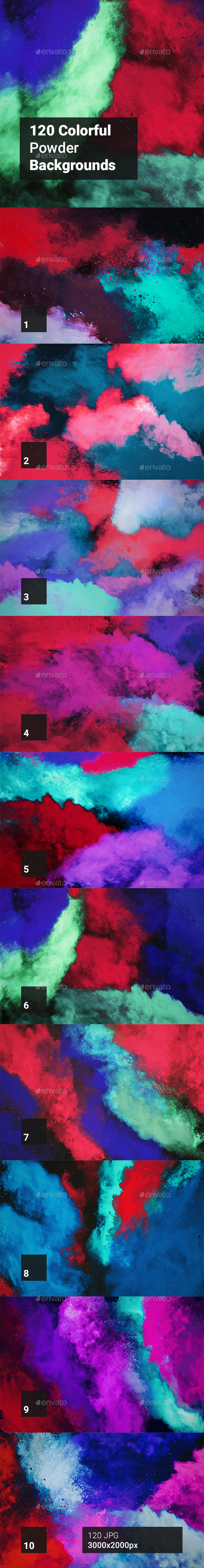 120 Colorful Powder Backgrounds - Abstract Backgrounds