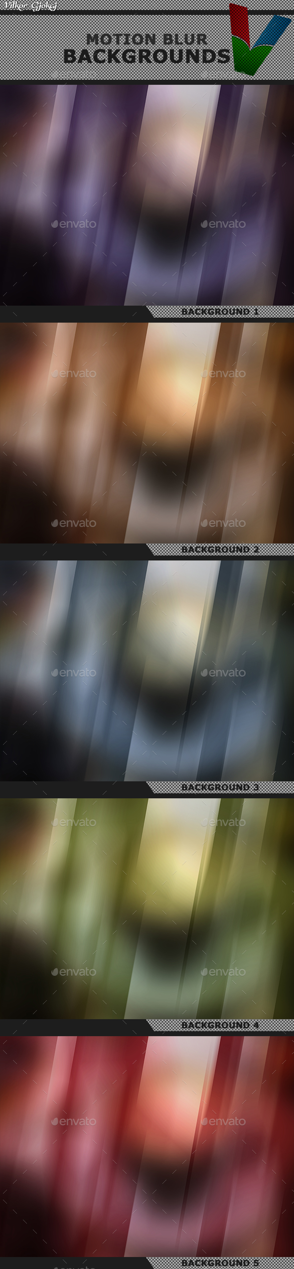 Motion Blur Backgrounds 2 - Abstract Backgrounds