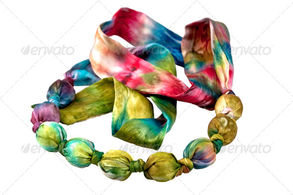 batik silk beads - Stock Photo - Images