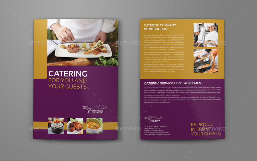 Catering brochure bundle template by owpictures graphicriver for Catering brochure templates