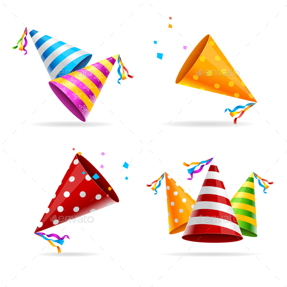 Party Hat Color Set - Birthdays Seasons/Holidays