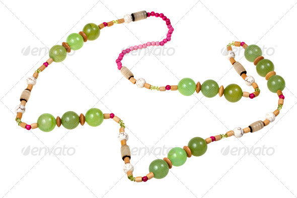 green onyx beads - Stock Photo - Images