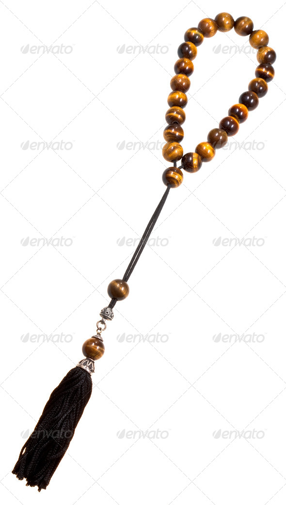 prayer bead isolated on white - Stock Photo - Images