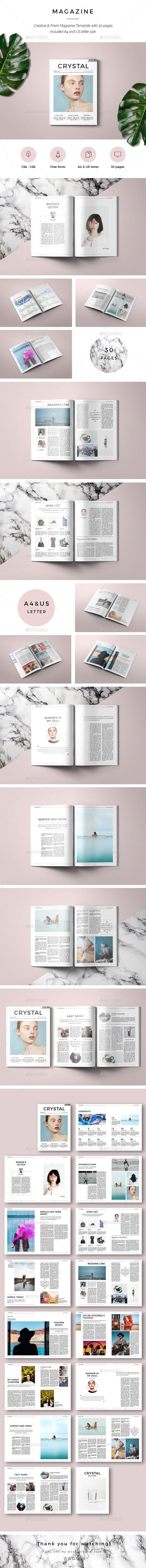 Crystal Magazine - Magazines Print Templates