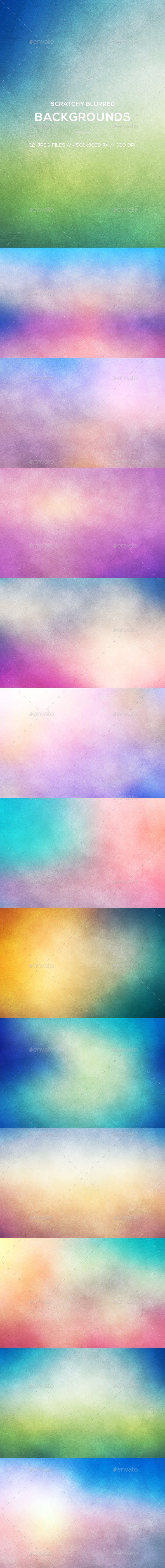 Scratchy Blurred Backgrounds - Abstract Backgrounds