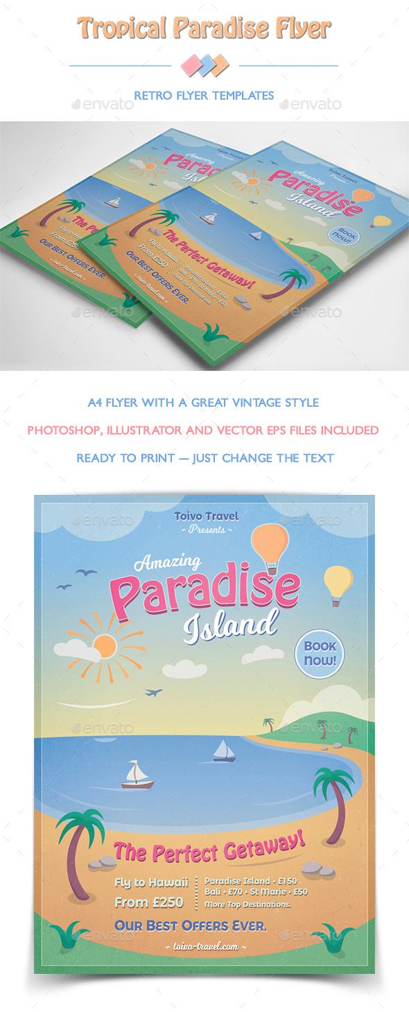 Tropical Paradise Flyer - Flyers Print Templates