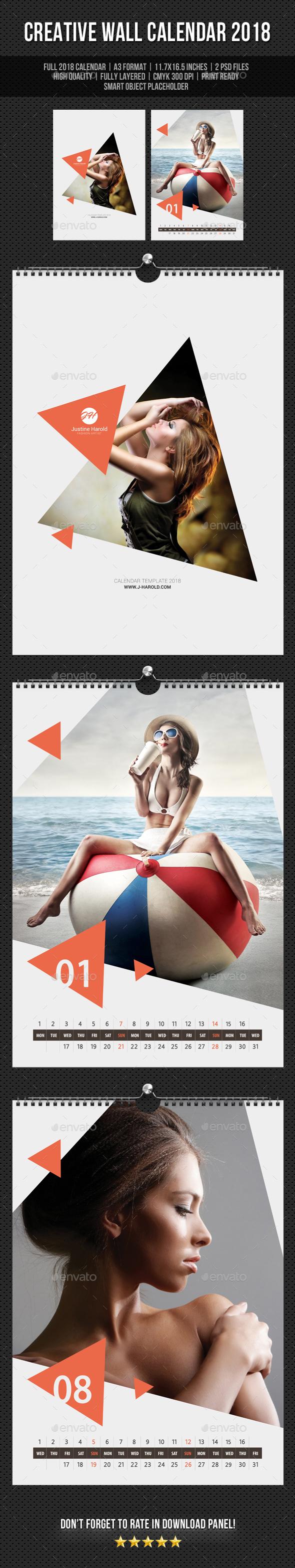 Creative Wall Calendar 2018 V19 - Calendars Stationery