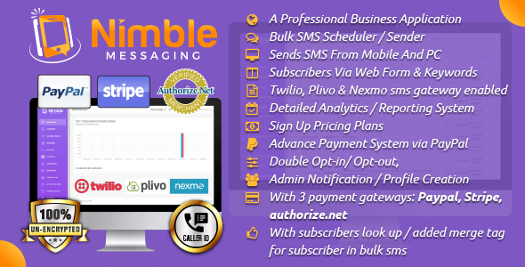 Nimble Messaging Professional SMS Marketing Application For Business - CodeCanyon Item for Sale