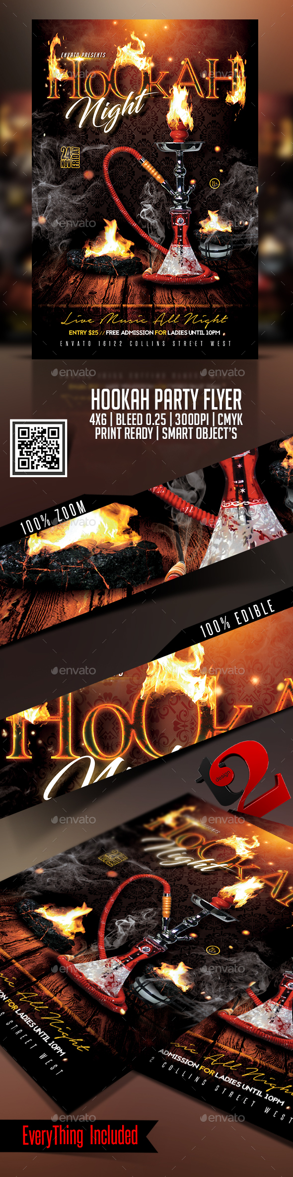 Hookah Party Flyer Template - Clubs & Parties Events