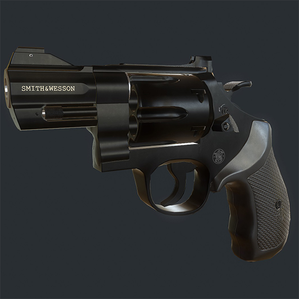 3DOcean Smith and Wesson 329 Revolver 20287452