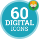 Multimedia Digital Mobile Technology Media - Flat Icons