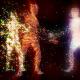 Dancing Particles Girls DJ VJ Widescreen Multi Screen