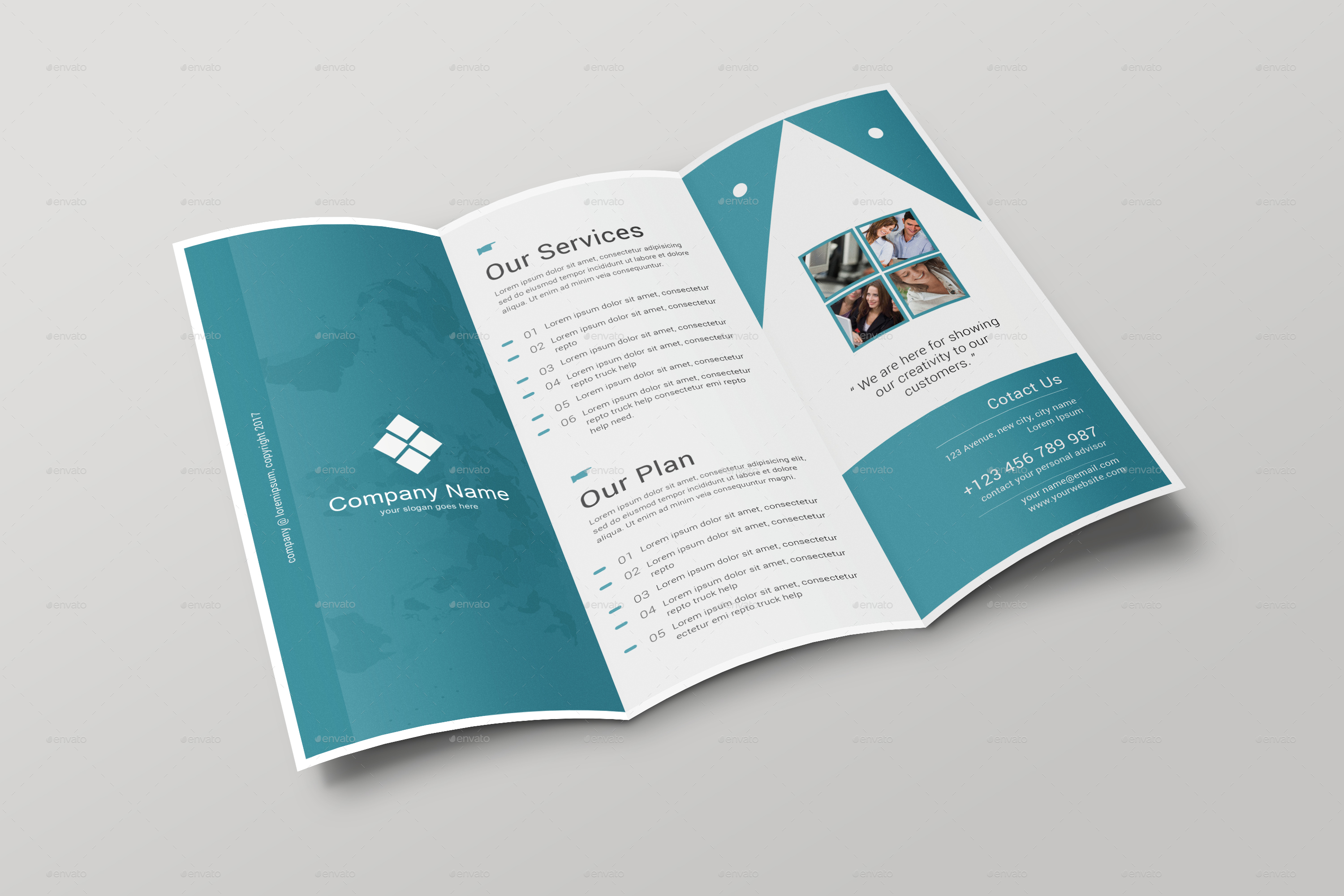 brochure folding templates - corporate trifold brochure by arpcreation graphicriver