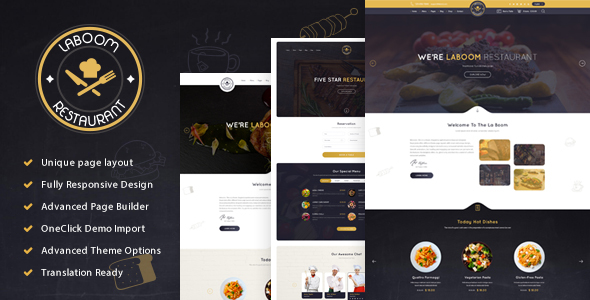 La Boom - Food & Restaurant Bistro WordPress Theme