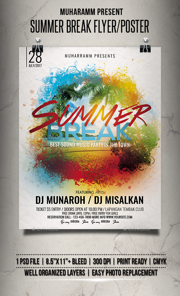 Summer Break Flyer / Poster