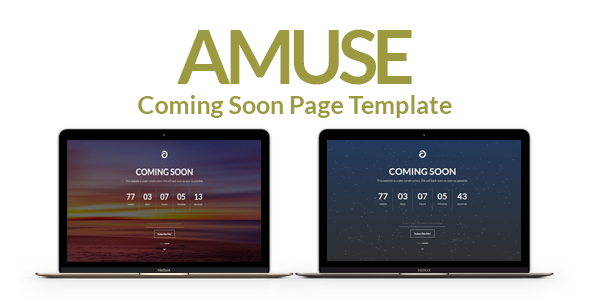 Amuse – A Multipurpose Coming Soon Page Template