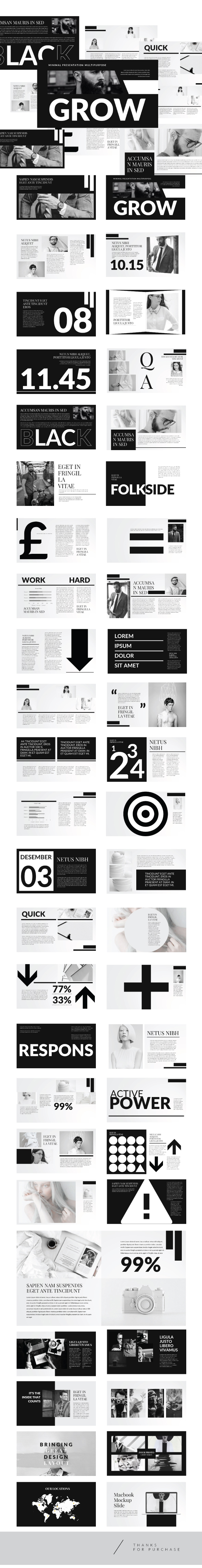 Hipster Creative Keynote  Template - Creative Keynote Templates