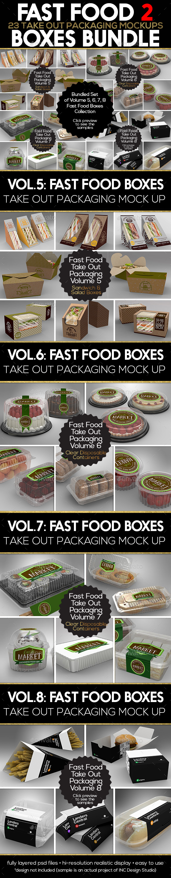 GraphicRiver Fast Food Boxes Mock Up Bundle 2 20288036