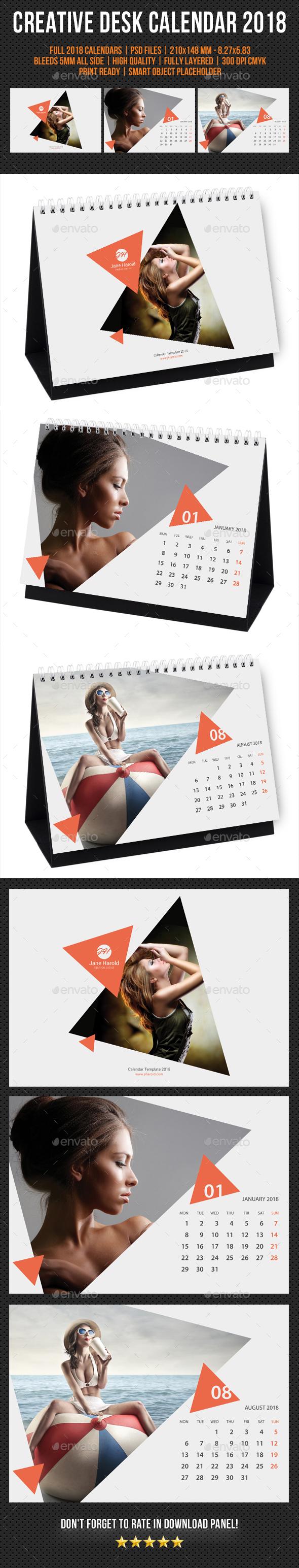 Creative Desk Calendar 2018 V27 - Calendars Stationery