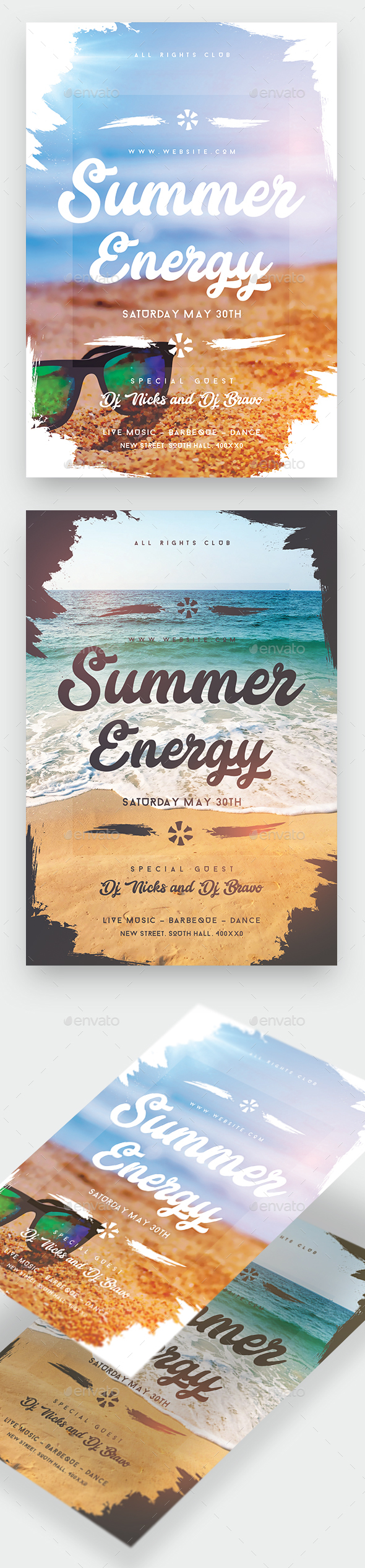 Summer Energy Party Flyer - Clubs & Parties Events