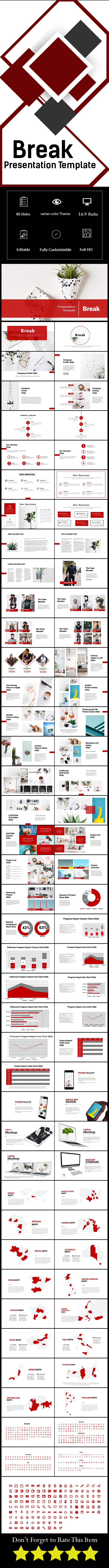 Break Powerpoint Template - PowerPoint Templates Presentation Templates