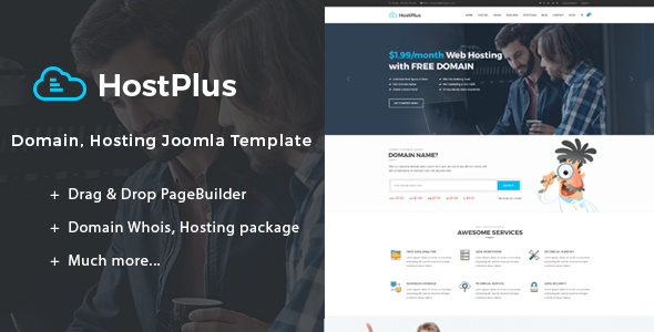 Image of Hostplus | Domain, Hosting Joomla Template