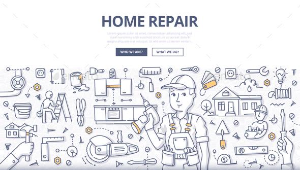 Home Repair Doodle Concept - Miscellaneous Conceptual