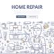 Home Repair Doodle Concept