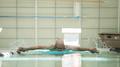 elderly athlete swimming