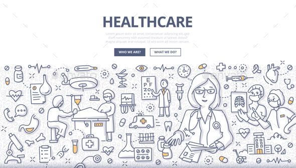 Healthcare Doodle Concept - Health/Medicine Conceptual