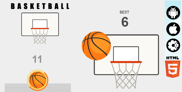 Basketball - HTML5 Game - Construct2 &  Construct3 CAPX - CodeCanyon Item for Sale