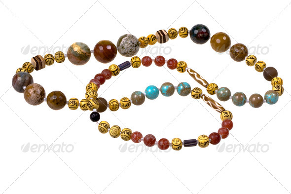 agate beads - Stock Photo - Images